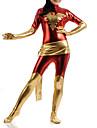 Collants Superheros Costume Zentai Costumes de Cosplay Rouge Mosaique Costume Zentai Lycra Femme Enfant Halloween
