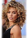 Femme Perruques capless a cheveux humains Ondule Coupe Degradee Court Chatain / Blond Platine