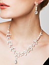 Pentru femei Zirconiu Cubic Ștras Argilă Diamante Artificiale Set bijuterii Include Σκουλαρίκια Coliere - Draguț Petrecere Elegant Modă
