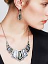 Pentru femei Seturi de bijuterii Cercei Picătură Coliere cu Pieptar Bijuterii Statement Vintage Pietre sintetice Cristal Zirconiu Cubic