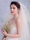 Voal de Nuntă Patru niveluri Voaluri Lungime Până la Vârfurile Degetelor Margine Tăiată Tulle