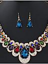 Pentru femei Cercei Picătură Coliere cu Pandativ Lănțișoare Ștras Diamant sintetic Lux Design Unic Stil Atârnat Clasic Boem Ștrasuri