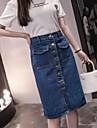 Pentru femei Mărime Plus Size Bodycon Contemporan Maxi Fuste - Mată Talie Înaltă / Primăvară / Vară