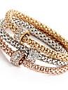 Dam Flickor Syntetisk Diamant Kedje & Länk Armband Armringar Armband av Remmar - Natur Vänskap Rund Guld Armband Till Julklappar Bröllop
