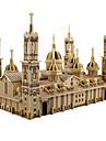 3D Yapbozlar / Yapboz / Modely Kilise / Plaza del Pilar Kendin-Yap / Simülasyon Ahşap Klasik Çocuklar için / Yetişkin Unisex Hediye