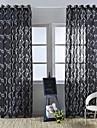 Rideaux opaques Chambre a coucher Fleur Relief