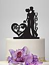 Vârfuri de Tort Temă Clasică Romantic Nuntă Cuplu Clasic Plastic Nuntă Aniversare cu 1 Sac poli