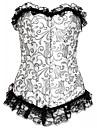 cârligul și ochiul pentru femei suprasolicită corset-floral, dantelă
