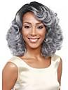 Synthetische Peruecken Wellen Stil Kappenlos Peruecke Grau Grau Synthetische Haare Damen Grau Peruecke Mittlerer Laenge Natuerliche Peruecke