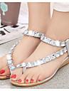 Pentru femei Pantofi PU Vară Confortabili Sandale pentru Casual Argintiu