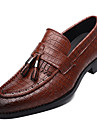 Homme Chaussures Microfibre Printemps / Automne Nouveaute Mocassins et Chaussons+D6148 Noir / Jaune / Rouge / Gland / Soiree & Evenement