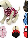 Kat Hond Jassen Gilet Hondenkleding Doodskoppen camouflage Roze camouflage kleur Rood / Wit Katoen Kostuum Voor Lente & Herfst Winter Heren Dames Casual / Dagelijks Houd Warm