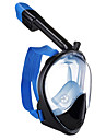 Dykning Masker Snorkelmaske Helmaske Undervands 180 grader To-vindue - Svømning Dykning Silikone Glasfiber - til Voksen Rød Blå Lys pink / Anti-Tåge