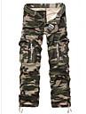Bărbați Larg Simplu Șic Stradă Talie Medie,Micro-elastic Pantaloni Chinos Pantaloni Floral Mată Buline Geometric