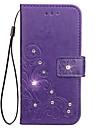Pentru iPhone X iPhone 8 iPhone 8 Plus Carcase Huse Titluar Card Stras Cu Stand Embosat Corp Plin Maska Floare Greu PU Piele pentru Apple