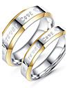 Pentru cupluri Inele Cuplu stil minimalist Modă Elegant Inele la Modă Bijuterii Titan Pentru Nuntă Logodnă Zilnic Ceremonie Serată 6 / 7 / 8 / 9 / 10