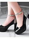 Damă Pantofi PU Toamnă Confortabili Tocuri Pentru Casual Alb Negru Bej Roz