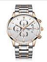 Bărbați Ceas Sport Ceas La Modă Unic Creative ceas Ceas Casual Japoneză Quartz Calendar Rezistent la Apă Mare Dial Oțel inoxidabil Bandă