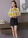 Pentru femei Stand Bluză Imprimeu Poliester