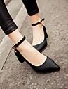Damă Pantofi PU Primăvară Toamnă Confortabili Tocuri Toc Jos Vârf ascuțit Pentru Casual Negru Albastru Roz