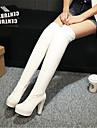 Femme Chaussures Polyurethane Automne Hiver Confort Bottes Pour Decontracte Blanc Noir