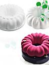 Cake Moulds Rund Vardagsanvändning Kiselgel GDS (Gör det själv) alla hjärtans dag Nyår Födelsedag Bröllop Jul Kreativ Köksredskap 3D