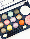 Eyeshadow Palette Blush Makeup Brushes Ammonia Free Formaldehyde Free 1160 Men Men and Women Lady Dry Matte Shimmer Waterproof Long Lasting Breathability 12 Colors Cosmetic Grooming Supplies