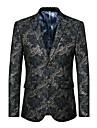 Bărbați În V Blazer Plus Size Petrecere/Cocktail Club Punk & Gotic Șic Stradă,Imprimeu Manșon Lung Primăvară Toamnă-Regular