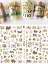 1pcs Mönster 3D Nail Stickers Gör-det-själv-produkter 3D Flickor och unga kvinnor Mode Dagligen Hög kvalitet