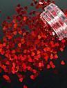# sequins nagelglitter hjärtaform gnist och glans nagelkonstruktion