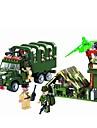 ENLIGHTEN Toy Car Building Blocks Military Blocks 308 pcs Military Car Soldier Fun & Whimsical Boys\' Girls\' Toy Gift / Educational Toy