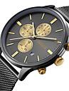 Bărbați Quartz Ceas de Mână Japoneză Calendar Rezistent la Apă Mare Dial Oțel inoxidabil Bandă Charm Lux Vintage Creative Casual Boem