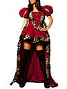 DinBasme Queen Costume Cosplay Costume petrecere Pentru femei Halloween Carnaval An Nou Festival / Sărbătoare Costume de Halloween Rosu