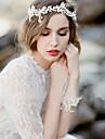 Imitație de Perle Diadema-Nuntă Ocazie specială Cordeluțe Lănțișor de cap 1 Bucată