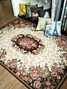 moda floral anti-skid jacquard covor pentru casa de zi / sufragerie dormitor covor mat / maro / rosu / verde / maro albastru / bej