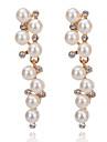 Pentru femei Cercei Picătură Imitație de Perle Clasic Elegant Ștras Aliaj Geometric Shape Bijuterii Petrecere Halloween Cadou Zilnic