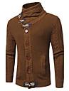 Bărbați Ieșire Casul/Zilnic Simplu(ă) Regular Cardigan-Mată Manșon Lung Stand Bumbac Toamnă Iarnă Mediu Gros Strech