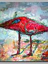 Peint a la main Animaux Carre, Artistique Actif Anniversaire Cool Bureau / Affaires Moderne/Contemporain Nouvel An Noel Toile Peinture a