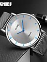 SKMEI Bărbați Ceas de Mână Rezistent la Apă / Cool Oțel inoxidabil Bandă Charm / Lux / Casual Argint / Doi ani / Maxell SR626SW