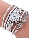 Pentru femei Simulat Diamant Ceas Ceas La Modă Ceas Brățară Chineză Quartz imitație de diamant PU Bandă Casual Boem Elegant Negru Alb