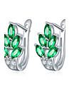 Pentru femei Cercei Stud Zirconiu Cubic La modă stil minimalist Zirconiu Oțel titan Leaf Shape Bijuterii Pentru