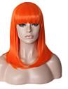 Syntetiska peruker Rak Naturligt vågigt Bob-frisyr Med lugg Till färgade kvinnor Naturlig hårlinje Densitet Utan lock Dam Grön Blå