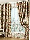Tratamentul fereastră Rustic , Floral Sufragerie Material Blackout Perdele Draperii Pagina de decorare For Fereastră