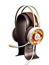 AJAZZ AX360Gold Cordeluțe Cablu Căști Dinamic Teak Jocuri Cască Drivere duale -Izolarea zgomotului Cu Microfon Cu controlul volumului