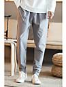 Bărbați Larg chinoiserie Vintage Simplu Talie Medie,Micro-elastic Skinny Pantaloni Chinos Pantaloni Mată