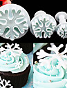 3 pcs / set flocon de neige fondant gateau decoration piston piston artisanat cutter moule outils
