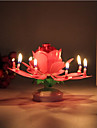 1 st lotusblomma ljus födelsedagsfest tårta musik gnistrande tårta topper roterande ljus dekoration