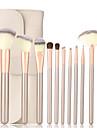12st Borstsatser Syntetiskt Hår Läppstift Ögonbryn eyeliner Mascara Ögonskugga bronzer stryknings Rodna Concealer Puder Foundation