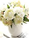 konstgjord silkeponny bukett ny bröllop blomma brud peony bukett 8 gren / bunt