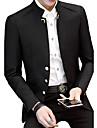 Bărbați Stand Blazer Casul/Zilnic Plus Size Simplu Vintage,Mată Manșon Lung Primăvară Toamnă-Regular Bumbac Acrilic Poliester